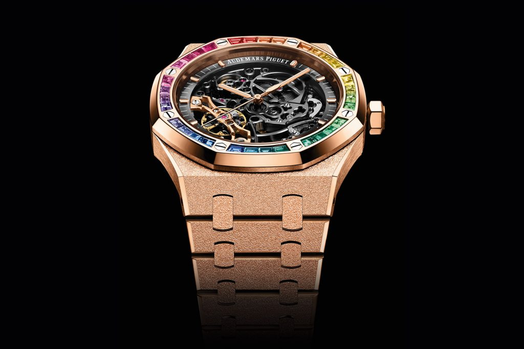 Royal Oak Frosted Gold Double Balance Wheel Hollow