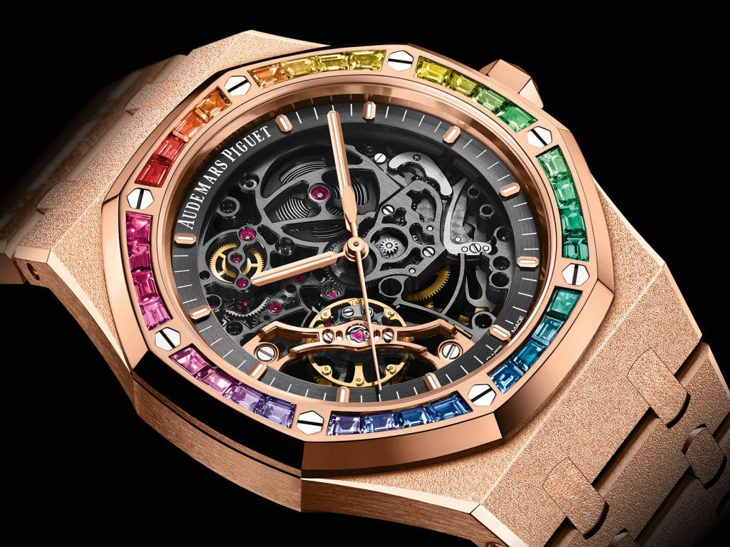 """Audemars Piguet Royal Oak Frosted Gold """"Rainbow"""" Watches"""